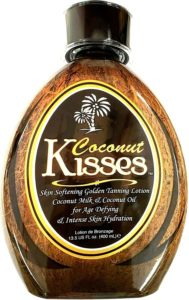 Coconut Kisses Golden Tannin Lotion- Best indoor tanning lotion for fair skin