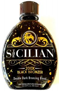 Best Indoor tanning lotion for fair skin- Silican 200x double Dark Black Bronzer