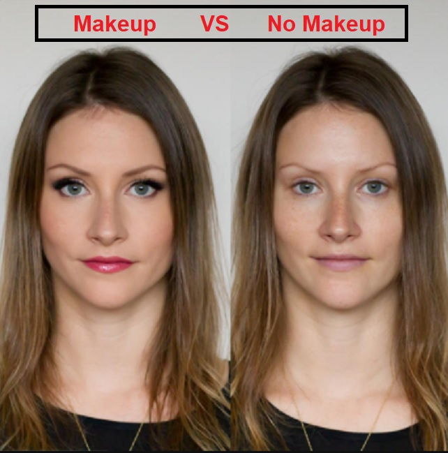 makeup vs no makeup